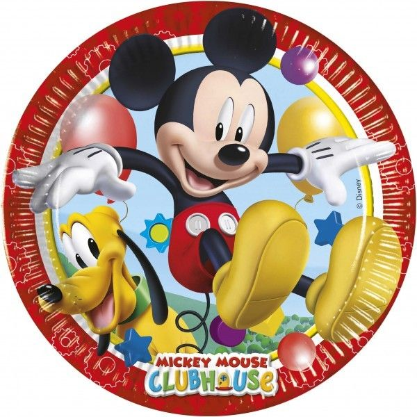 6 PLATOS DE PAPEL 23CM MICKEY PLAYFUL