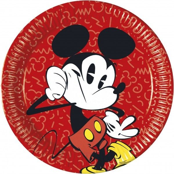 8 PLATOS DE PAPEL 23CM MICKEY