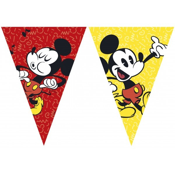 BANDERIN DE PLASTICO MICKEY SUPER COOL