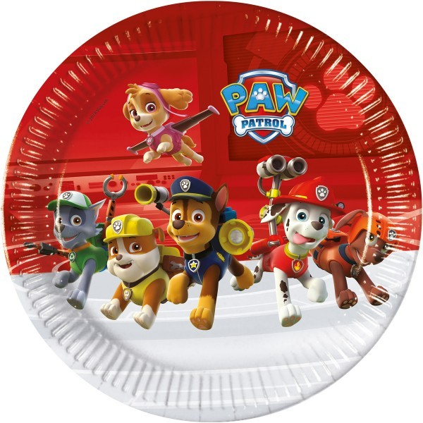 6 PLATOS DE PAPEL 23CM PAW PATROL READY FOR ACTION