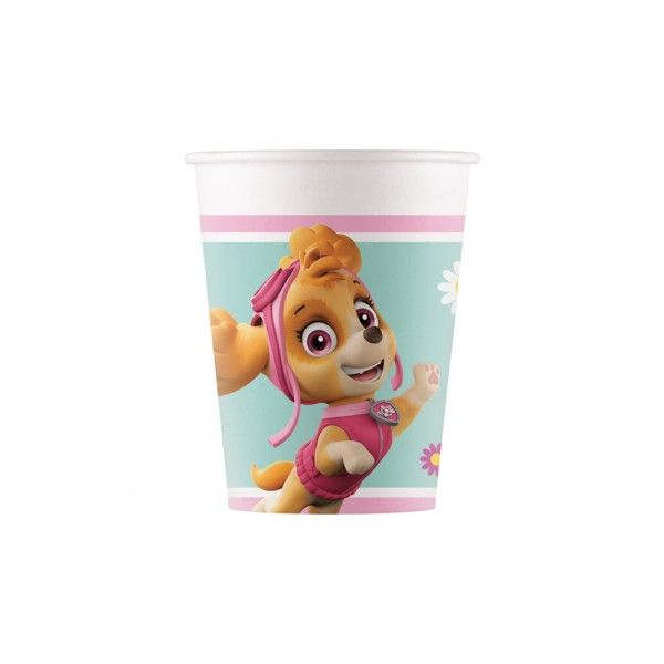 6 VASOS DE PAPEL 200ML PAW PATROL SKYE Y EVEREST