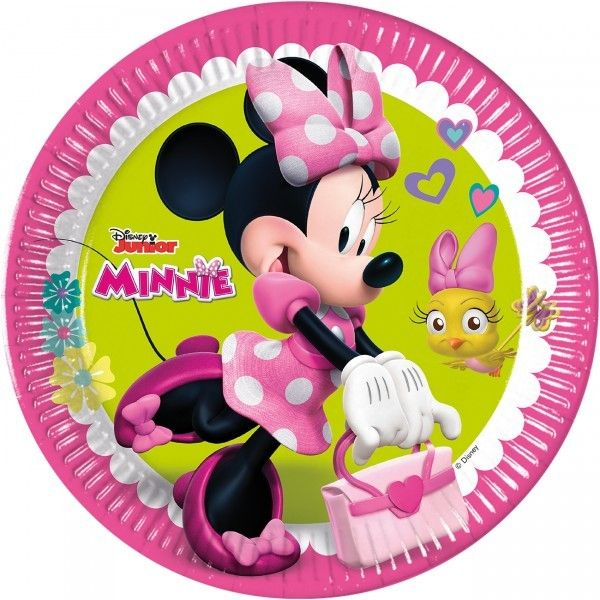 6 PLATOS DE PAPEL 23CM MINNIE HAPPY HELPERS
