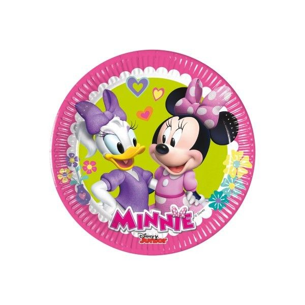 6 PLATOS DE PAPEL 20CM MINNIE HAPPY HELPERS